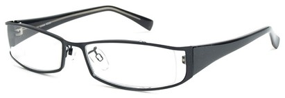 Angle of The Lenox in Black and Black Frame, Women's and Men's