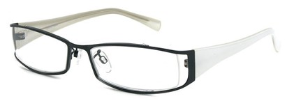 Angle of The Lenox in Black and White Frame, Women's and Men's
