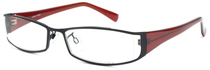 Angle of The Lenox in Black and Red Frame, Women's and Men's