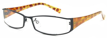 Angle of The Lenox in Black and Tortoise Frame, Women's and Men's