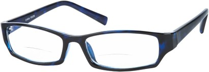 Angle of The Indiana Bifocal in Dark Blue, Women's and Men's Rectangle Reading Glasses