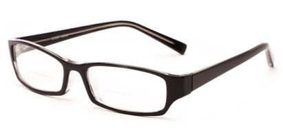 Angle of The Indiana Bifocal in Black, Women's and Men's Rectangle Reading Glasses