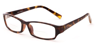 Angle of The Indiana Bifocal in Tortoise, Women's and Men's Rectangle Reading Glasses