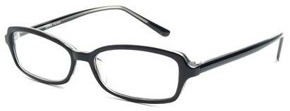 Angle of The Nelson in Black, Women's and Men's Rectangle Reading Glasses