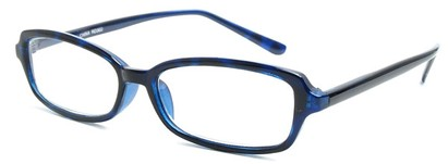Angle of The Nelson in Blue, Women's and Men's Rectangle Reading Glasses