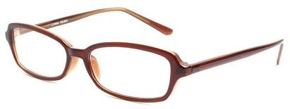 Angle of The Nelson in Brown, Women's and Men's Rectangle Reading Glasses