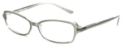 Angle of The Nelson in Grey, Women's and Men's Rectangle Reading Glasses