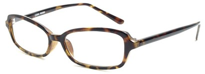 Angle of The Nelson in Tortoise, Women's and Men's Rectangle Reading Glasses