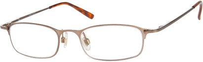 Angle of The Sydney in Bronze, Women's and Men's Rectangle Reading Glasses