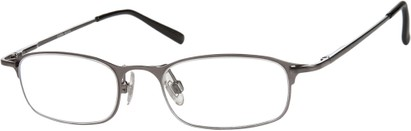 Angle of The Sydney in Grey, Women's and Men's Rectangle Reading Glasses