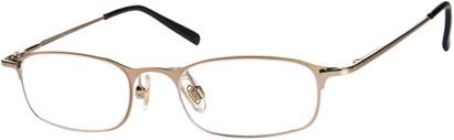 Angle of The Sydney in Gold, Women's and Men's Rectangle Reading Glasses