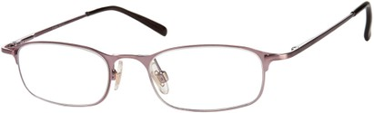 Angle of The Sydney in Purple, Women's and Men's Rectangle Reading Glasses