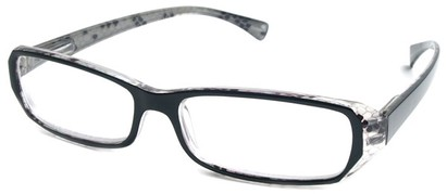 Angle of The Estelle in Black and Clear, Women's and Men's