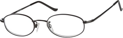 Angle of The Amsterdam in Black, Women's and Men's Oval Reading Glasses
