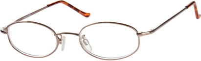Angle of The Amsterdam in Copper/Bronze, Women's and Men's Oval Reading Glasses