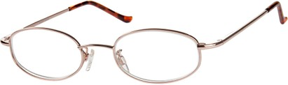 Angle of The Amsterdam in Gold, Women's and Men's Oval Reading Glasses