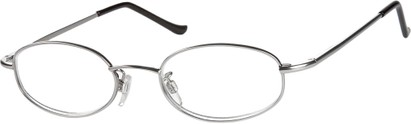 Angle of The Amsterdam in Silver, Women's and Men's Oval Reading Glasses