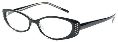 Angle of The Ivy in Black, Women's Cat Eye Reading Glasses
