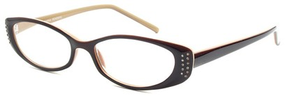 Angle of The Ivy in Dark Brown, Women's Cat Eye Reading Glasses