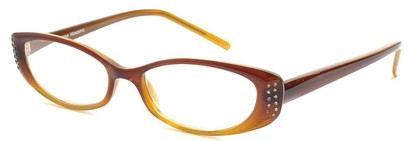 Angle of The Ivy in Brown Fade, Women's Cat Eye Reading Glasses
