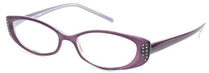Angle of The Ivy in Purple, Women's Cat Eye Reading Glasses