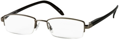 Angle of The Hemingway in Grey/Black, Women's and Men's Rectangle Reading Glasses