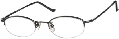 Angle of The Biltmore in Black, Women's and Men's Oval Reading Glasses