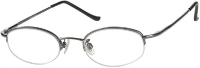 Angle of The Biltmore in Grey, Women's and Men's Oval Reading Glasses