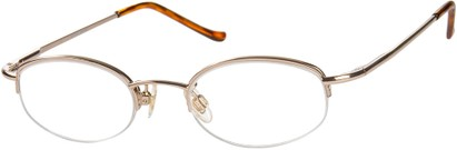 Angle of The Biltmore in Gold, Women's and Men's Oval Reading Glasses