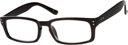 Angle of The Auckland in Black, Women's and Men's Rectangle Reading Glasses