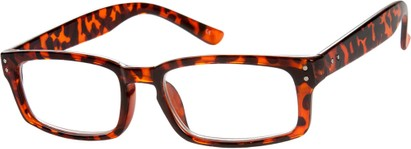 Angle of The Auckland in Brown Tortoise, Women's and Men's Rectangle Reading Glasses