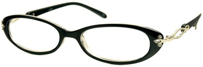 Angle of The Sherrie in Black, Women's Oval Reading Glasses