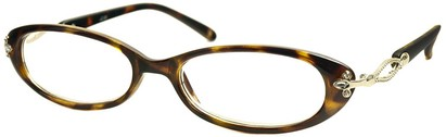 Angle of The Sherrie in Brown Tortoise, Women's Oval Reading Glasses