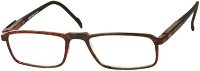 Angle of The Gardner in Black/Red Speckled, Women's and Men's Rectangle Reading Glasses