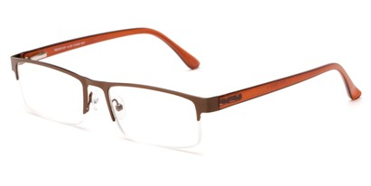 Angle of The Asher in Bronze/Brown, Women's and Men's Rectangle Reading Glasses