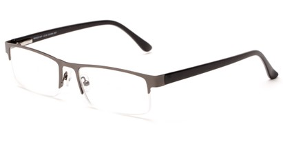 Angle of The Asher in Grey/Black, Women's and Men's Rectangle Reading Glasses