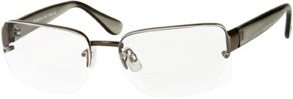 Angle of The Brady Bifocal in Grey, Women's and Men's Square Reading Glasses