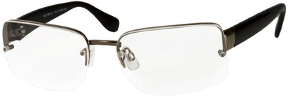 Angle of The Brady Bifocal in Grey/Black, Women's and Men's Square Reading Glasses
