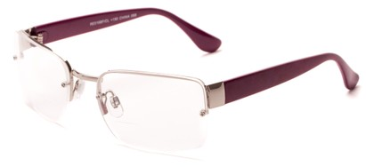 Angle of The Brady Bifocal in Silver/Pink, Women's and Men's Square Reading Glasses