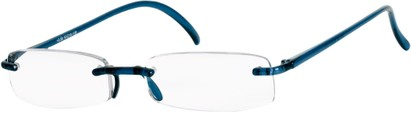 Angle of The Pittsburgh in Dark Blue, Women's and Men's Rectangle Reading Glasses