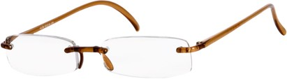 Angle of The Pittsburgh in Brown, Women's and Men's Rectangle Reading Glasses