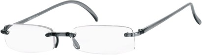 Angle of The Pittsburgh in Dark Grey, Women's and Men's Rectangle Reading Glasses
