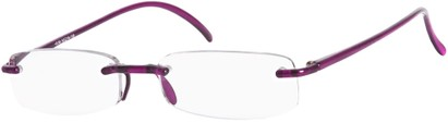 Angle of The Pittsburgh in Purple, Women's and Men's Rectangle Reading Glasses