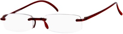 Angle of The Pittsburgh in Red, Women's and Men's Rectangle Reading Glasses