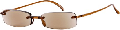 Angle of The Philadelphia Reading Sunglasses in Brown with Amber Lenses, Women's and Men's
