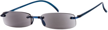 Angle of The Philadelphia Reading Sunglasses in Dark Blue with Grey Lenses, Women's and Men's