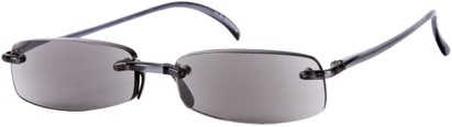 Angle of The Philadelphia Reading Sunglasses in Grey with Grey Lenses, Women's and Men's