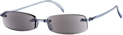Angle of The Philadelphia Reading Sunglasses in Light Blue with Grey Lense, Women's and Men's