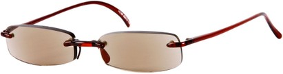 Angle of The Philadelphia Reading Sunglasses in Red with Amber Lenses, Women's and Men's