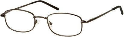 Angle of The Blake in Grey, Women's and Men's Rectangle Reading Glasses